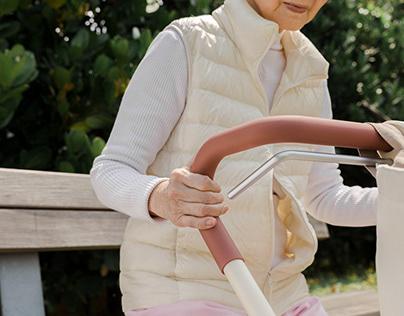Carta_ New Elderly Rollator With Curves Handle