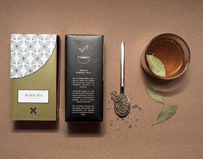 """famous tea"" - package design, branding"