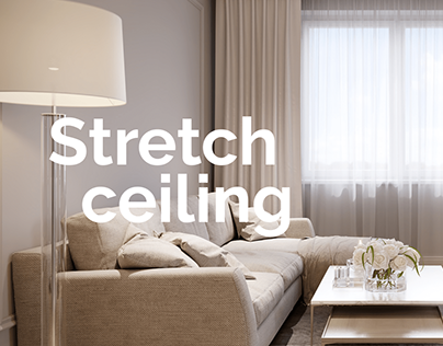Landing page for company making stretch ceilings