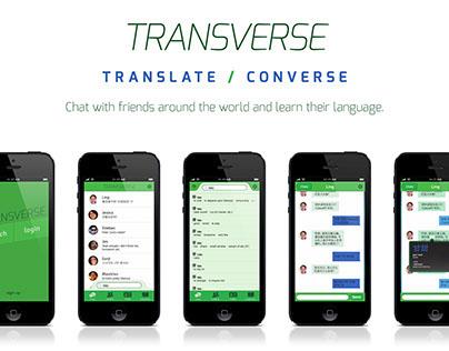 Transverse - Translator/Messenger App Concept