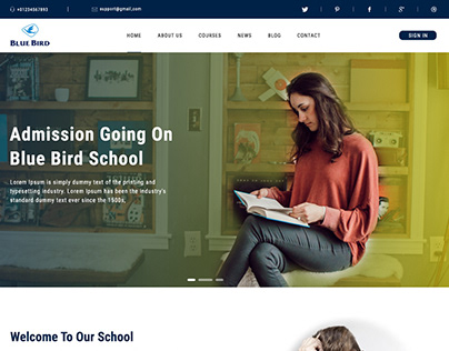 web UI design for school or coaching center