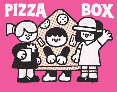 Illustration for pizza box (Moko Pizza)