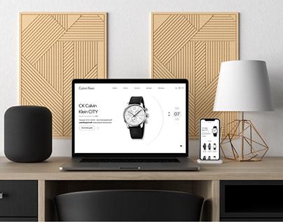 Дизайн интернет магазина Сalvin Klein