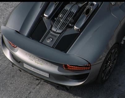 Porsche Spyder 918 CGI & Retouching
