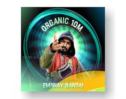 Emiway Bantai 10 Million Poster Design