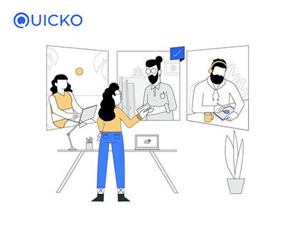 Quicko - Website Illustrations