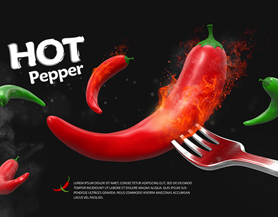 Hot pepper in cinema 4d