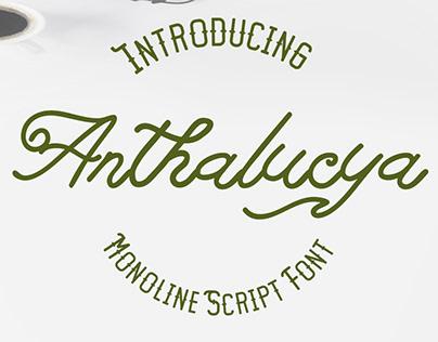 Free Monoline Script Font