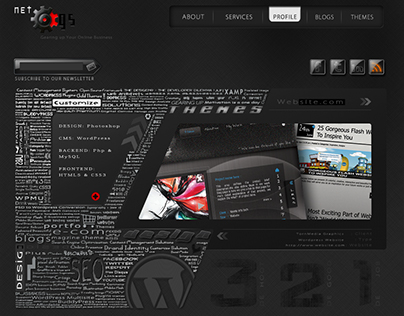 NETCOGS WEB PAGES OLD DESIGNS DARK