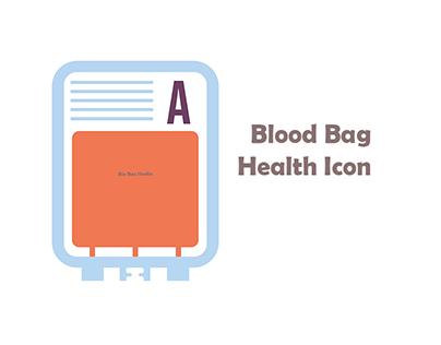 simple blood bag Health Icon