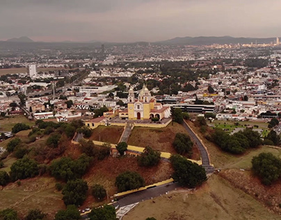 Short drone atmospheric video: View of the city.