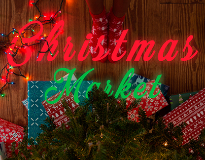 Christmas Market.Landing Page UI/UX