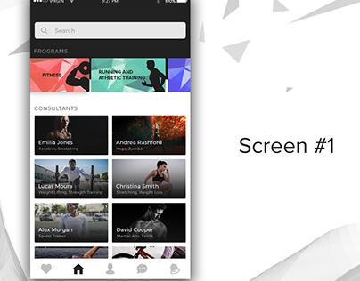 Daily UI 02 - A Fitness App Concept