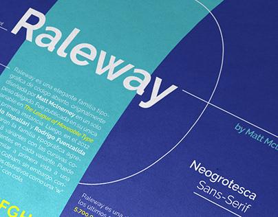 Espécimen tipográfico - Raleway