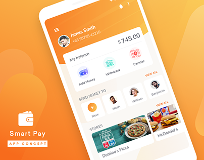 Smart Pay App offers the easiest way to send or receive