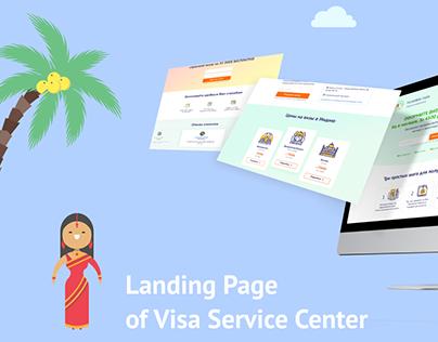 Landing Page Visa Service Center
