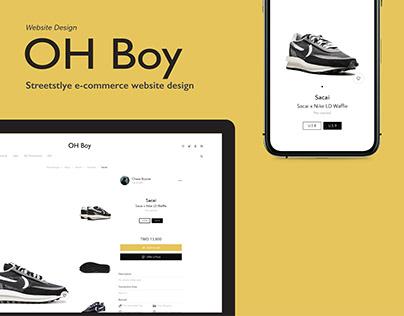 OH Boy, Streetstyle Website Design