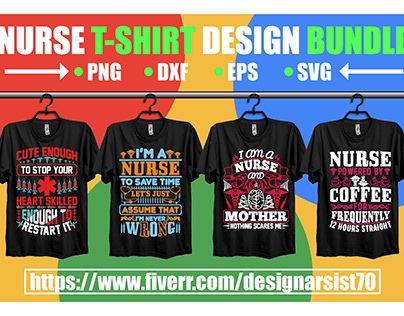 Nurse T-shirt Design Bundle