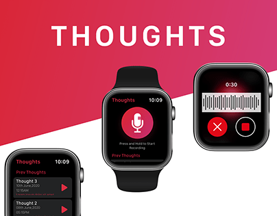 Apple iOS Watch Application Presentation - Thoughts App
