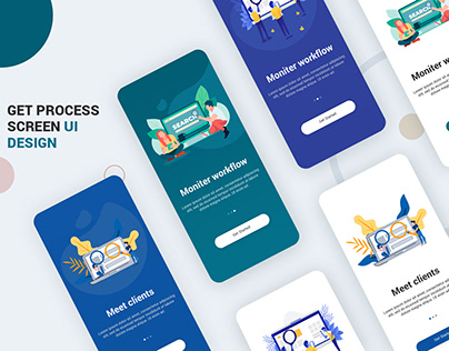 Get Started Screen Design UI Kit PSD