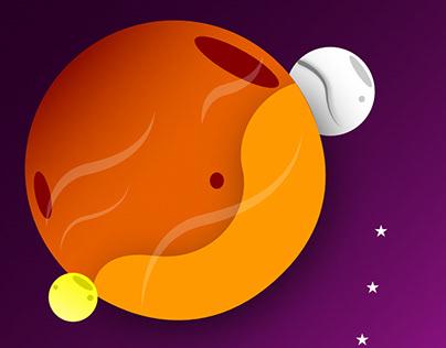 Planet Orange - Vector