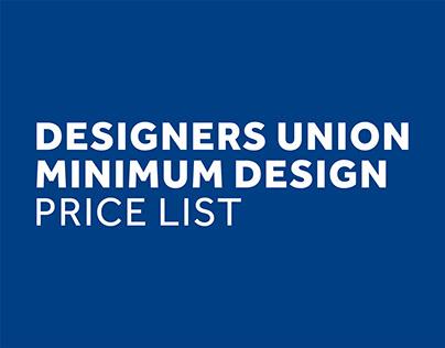 Official DU Design Minimum Price List