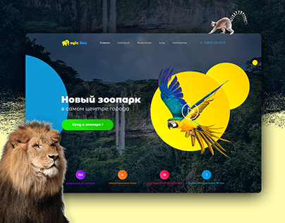 Landing Page Design for Zoo