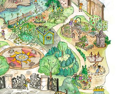 Hershey Children Garden Map