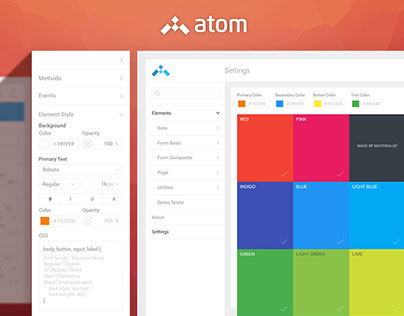 Atom - set of elements and builders