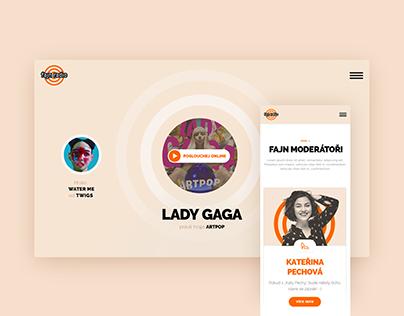 Website Design: Fajn Radio