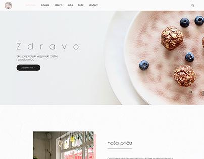 Website for Bistro Zdravo - Sarajevo healthy food