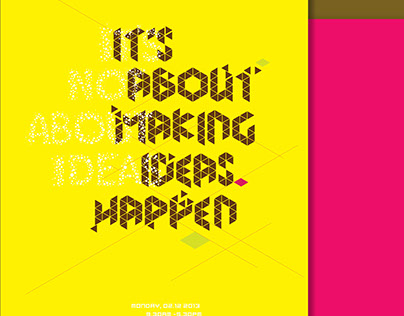 It's not about ideas   Typography Poster