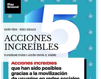 5 cosas increíbles/PlayGround x Acción Contra el Hambre