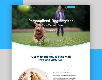 Dog Walking Landing Page Design