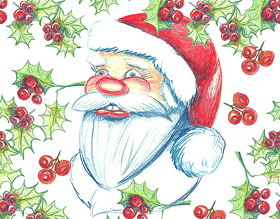 Christmas watercolor patterns.
