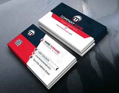 Modern Corporate Business Card Design Template