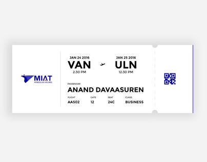 MIAT - Boarding pass