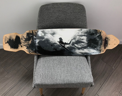Longboarding with surfing
