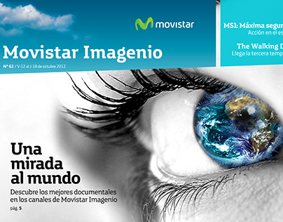 Diseño revista Movistar Imagenio