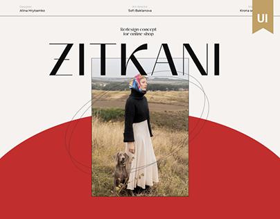 Zitkani | online store redesign