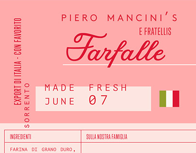 Italian Farfalle packaging