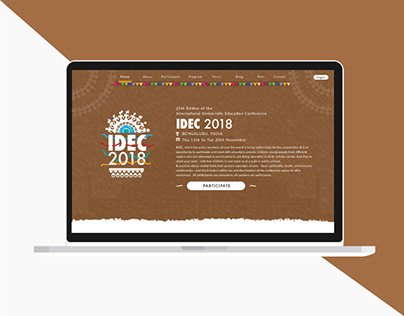 Experience Design for Discovery Website of IDEC2018