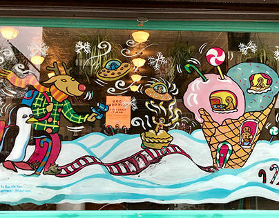 Holiday decors for Davey's Ice Cream NYC