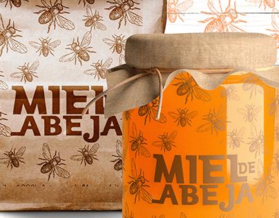 diseño etiqueta MielAbeja