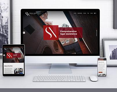Sabuda+Nędza legal firm website redesign