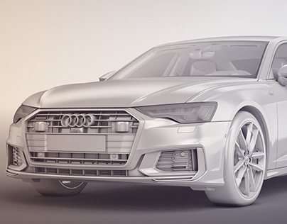 Audi A6 2018 with detailed interior