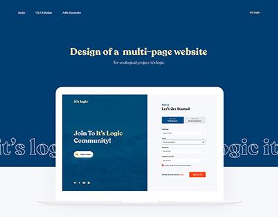 It's Logic - Platform for Eco-events / Website