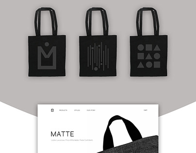 MATTE | Fashion Canvas Bag Branding & Advertisement