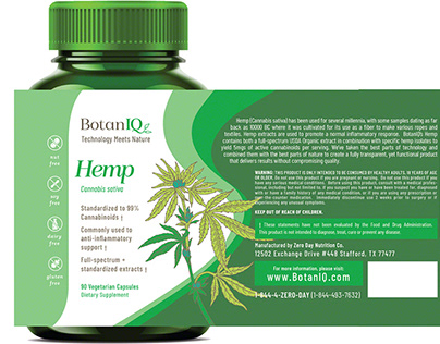 BotanIQ - Hemp - Package Design Mockup