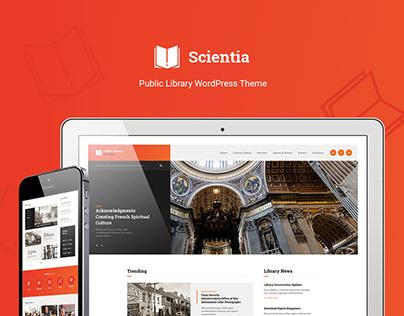 Scientia - Public Library & Book Store WP Theme